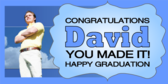 Personalized Happy Graduation Banner
