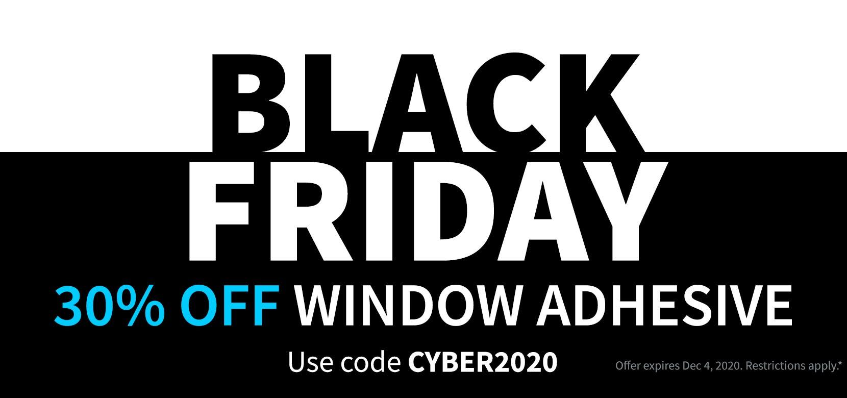 Black Friday CYBER2020 Clear Window Decals