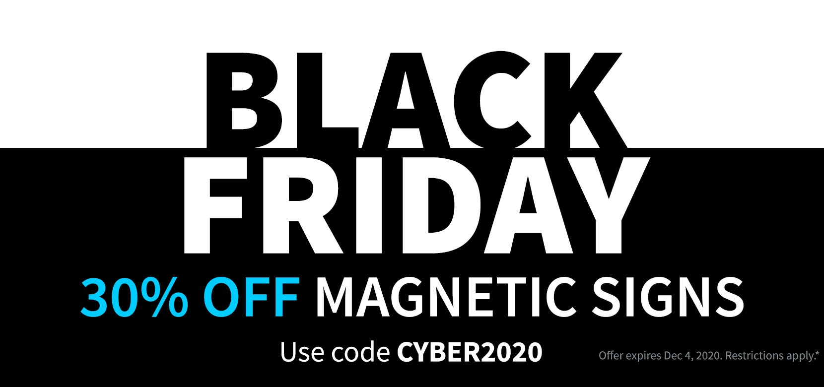 Black Friday CYBER2020 Car Magnetic Signs
