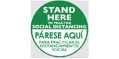 Stand Here Social Distancing Floor Sticker