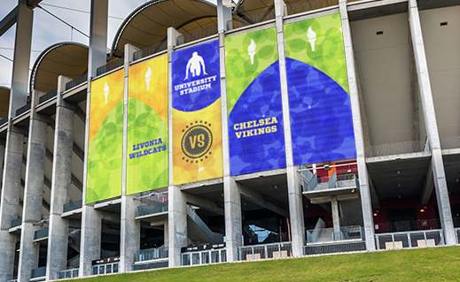 Stadium Backdrop Banners