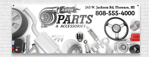 Automotive Parts Banners