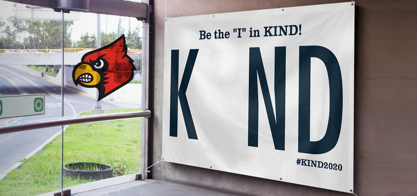Be the I in kind 5' x 8' Banner