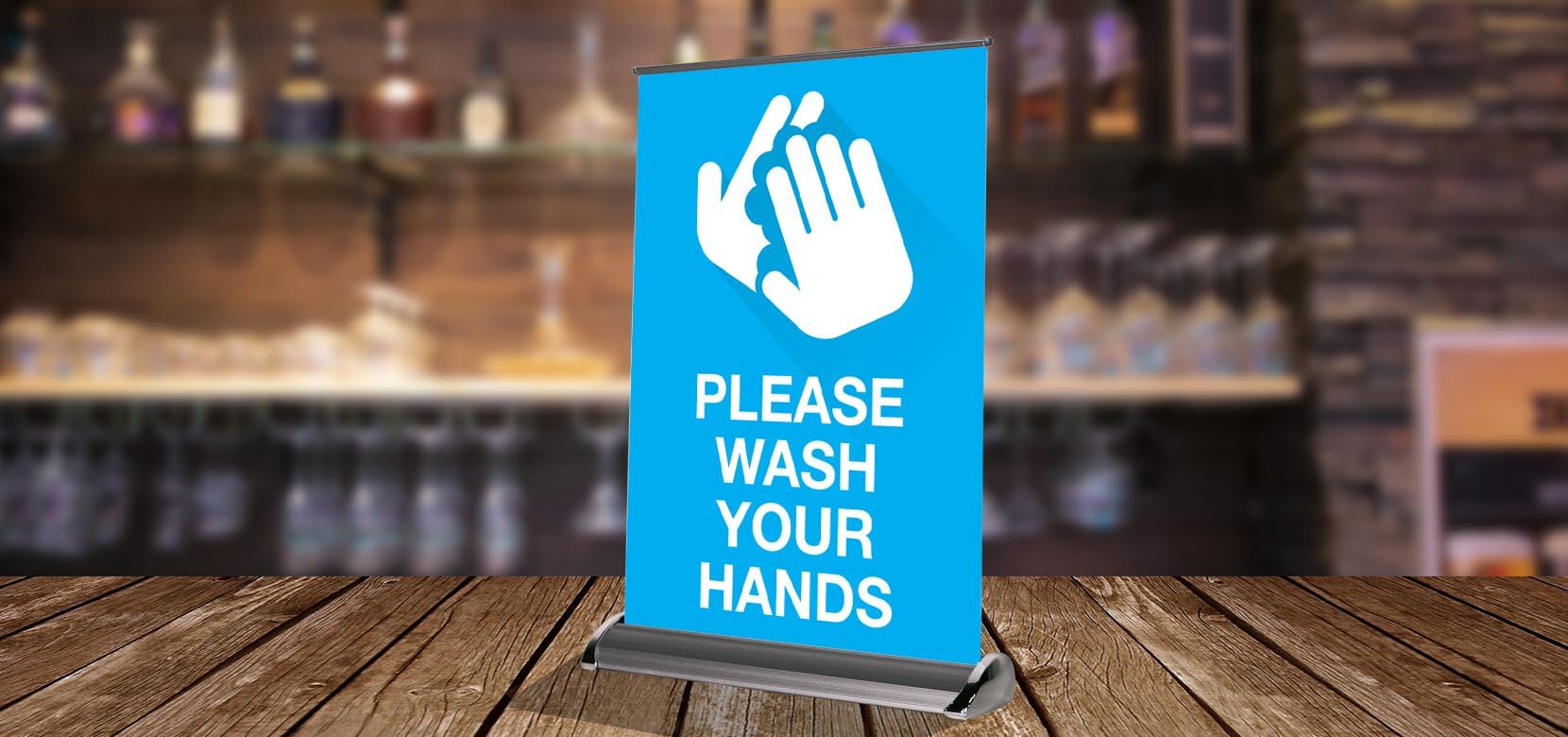 Wash Hands - Table Retractable
