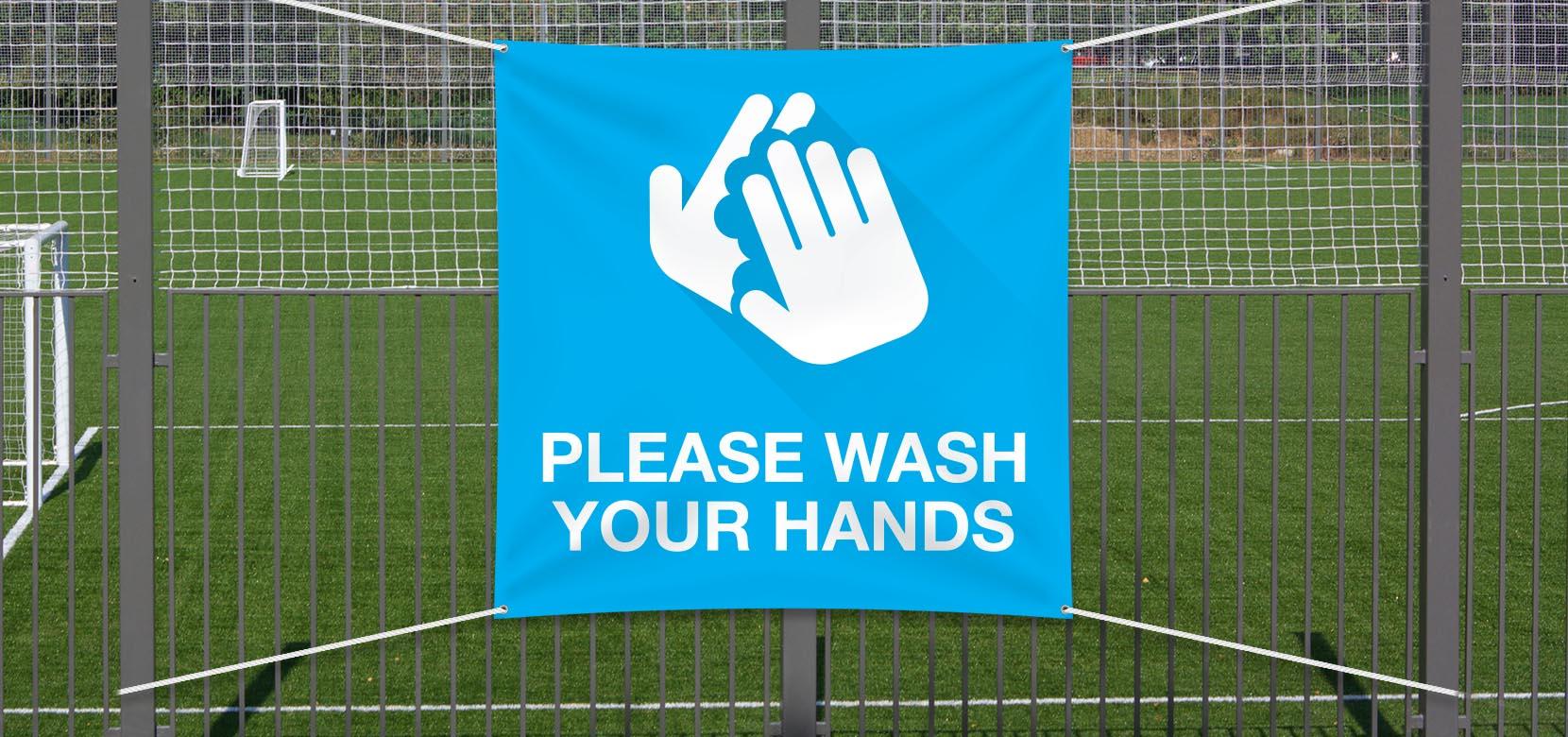 Wash Hands - Vinyl 2x2