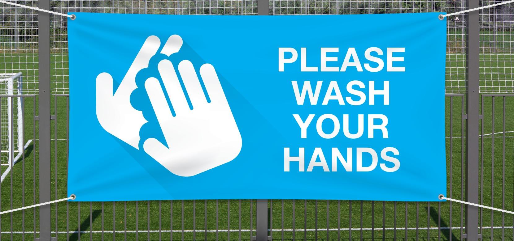Wash Hands - Vinyl 2x4