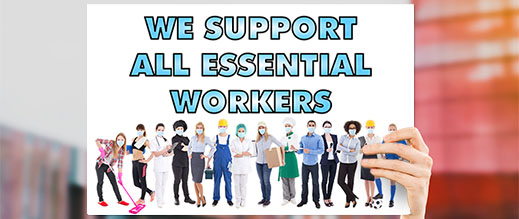 Thanks - Essential Workers