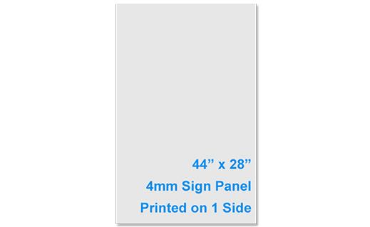 Single Side Printed Sign Panel