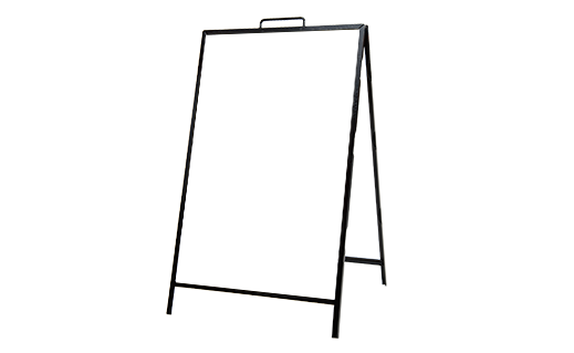 a frame sign metal frame 3x2