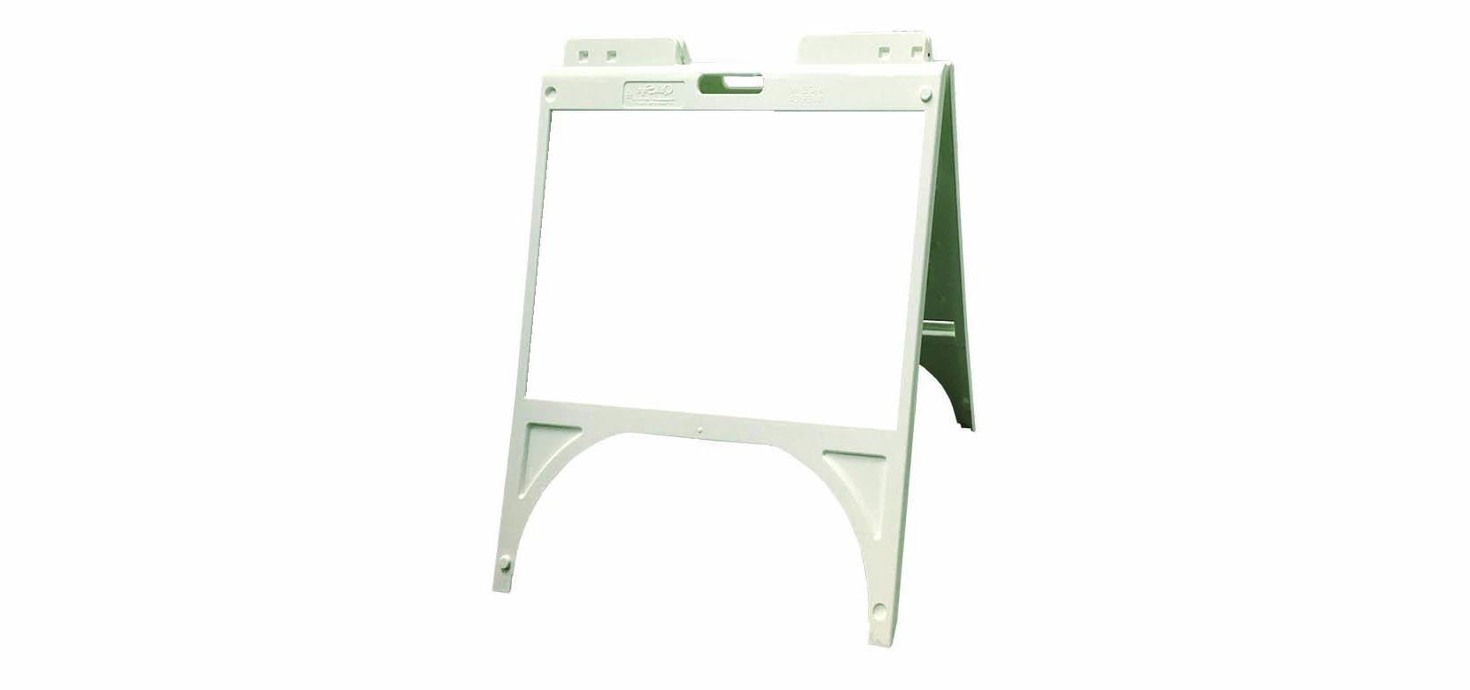 a frame sign white