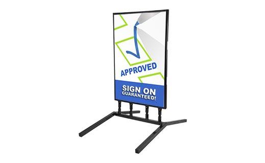 springer slide in sidewalk sign