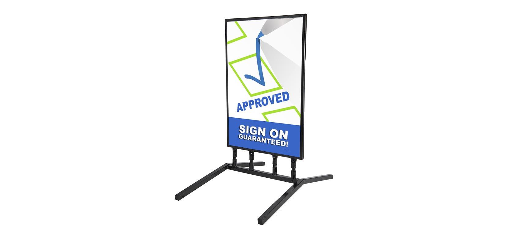 springer slide in sidewalk sign with board