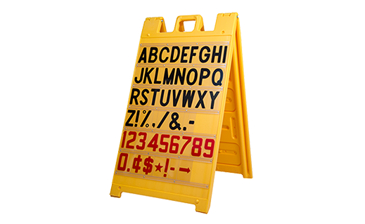 signicade letter message board a frame sign