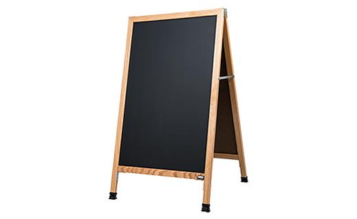 a frame wood chalkboard sign