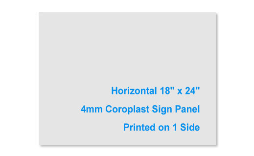 18x24 4mm 1 Sided Sign Panel