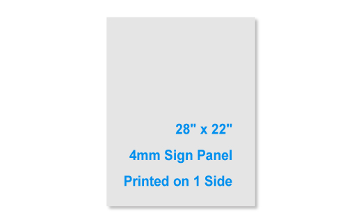 28x22 4mm 1 Sided Sign Panel