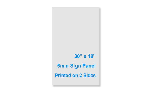 """30""""x18"""" 6mm 2 Sided Sign Panel"""