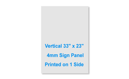 "33""x23"" 4mm thick 1 sided sign panel"