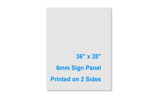 """36"""" Tall by 28"""" Wide 6mm 2 Sided Sign Panel"""
