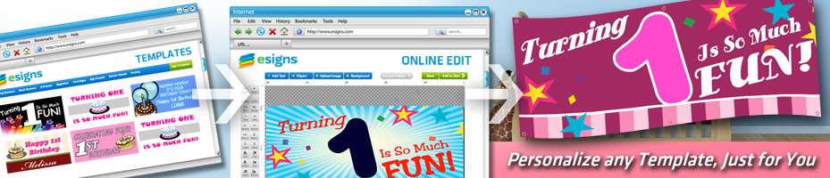 Web Banner To Advertise Personalized Signs