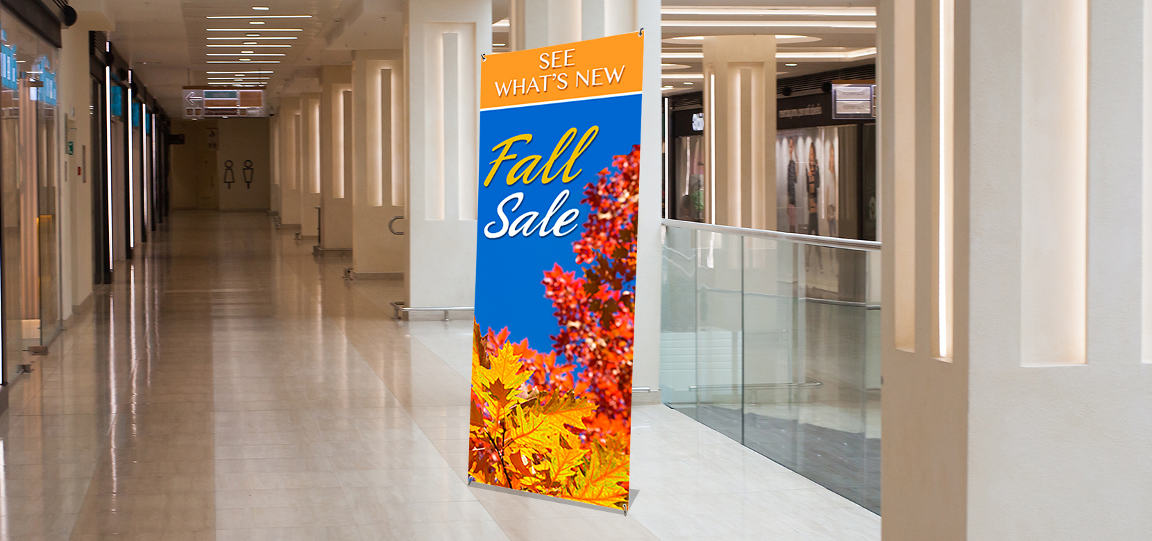 "79""x31,5"" X Banner Stand Printed Display"