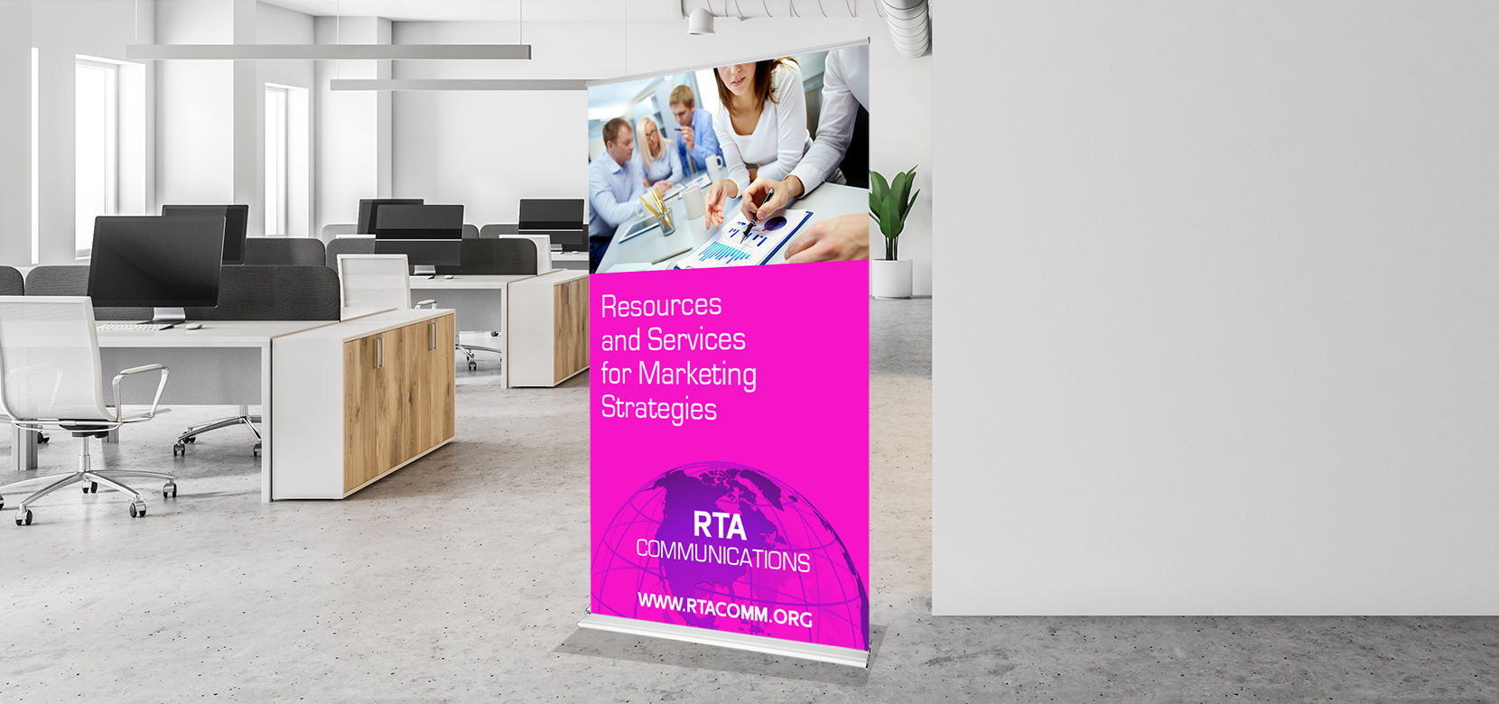 silverstep retractable banner stand 1 sided front