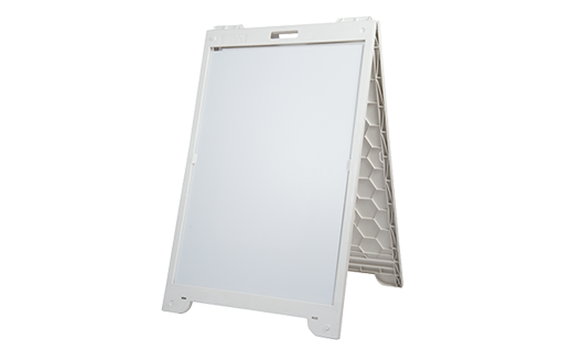 Classic White 3'x2' A-Frame Sign Holder