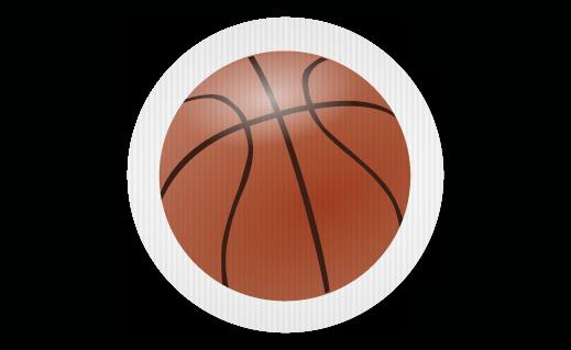 Basketball Shaped Coroplast Sign