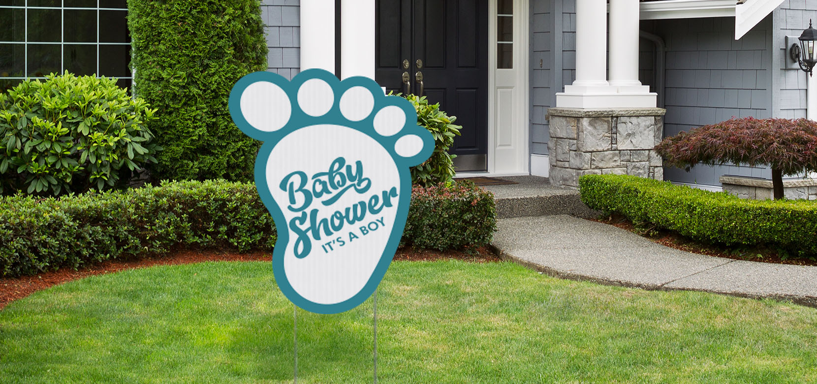Foot Shaped Coroplast Sign