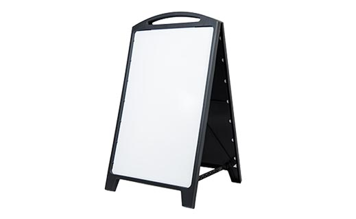 EconWhite DryErase AFrame Black