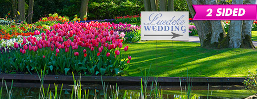"18""x30"" 2 Sided Wedding Print Yard Sign"