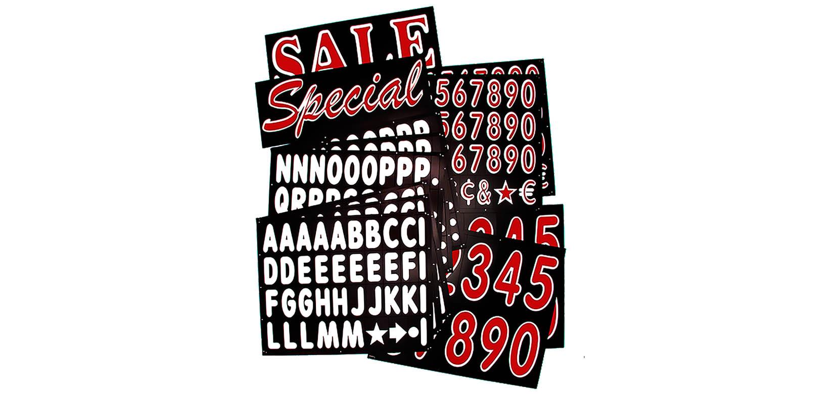 Black Deluxe Letter Kits