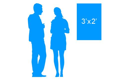 3'x2' To Scale Vertical Vinyl Banner