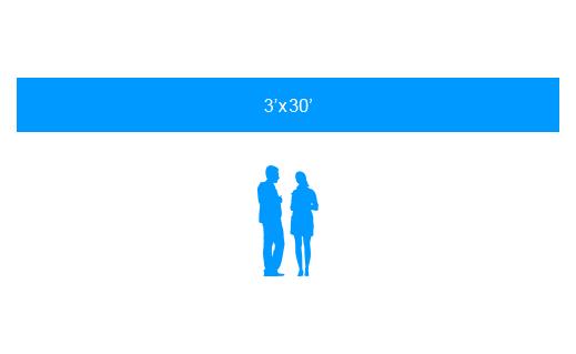 3'x30' To Scale Vinyl Banner