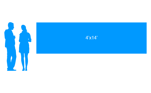 4'x14' To Scale Vinyl Banner