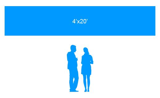 4'x20' To Scale Vinyl Banner