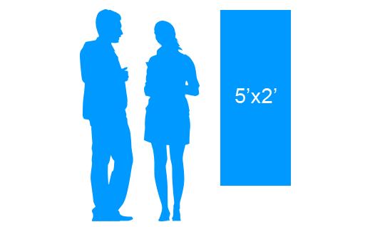 5'x2' To Scale Vertical Vinyl Banner