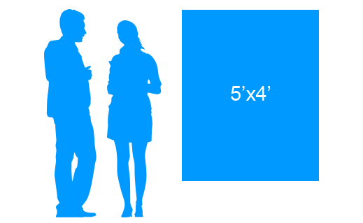 5'x4' To Scale Vinyl Banner