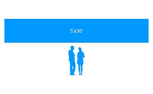 5'x30' To Scale Vinyl Banner