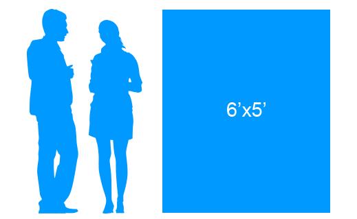 6'x5' To Scale Vertical Vinyl Banner