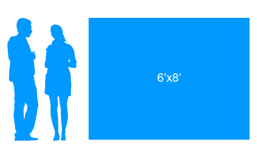 6'x8' To Scale Vinyl Banner
