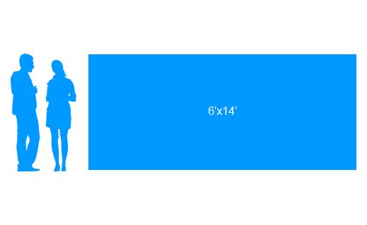 6'x14' To Scale Vinyl Banner