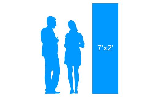 7'x2' To Scale Vertical Vinyl Banner