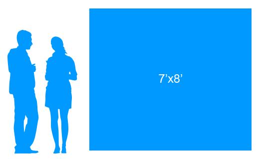 7'x8' To Scale Vinyl Banner