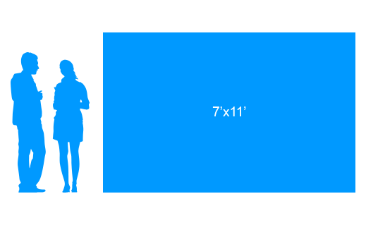 7'x11' To Scale Vinyl Banner