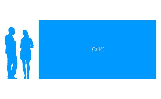 7'x14' To Scale Vinyl Banner