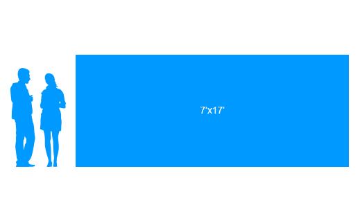 7'x17' To Scale Vinyl Banner