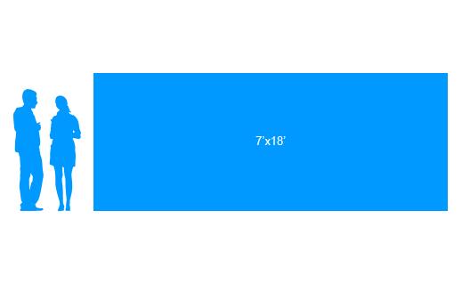7'x18' To Scale Vinyl Banner