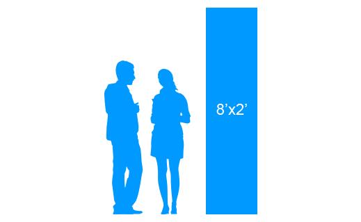 8'x2' To Scale Vertical Vinyl Banner