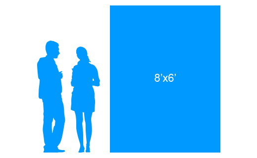 8'x6' To Scale Vertical Vinyl Banner